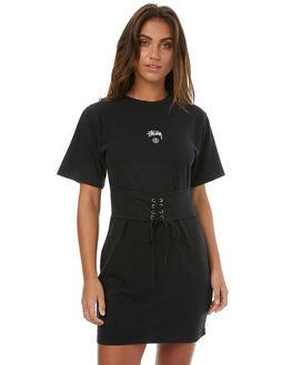 BLACK WOMENS CLOTHING STUSSY DRESSES - ST173506BLK