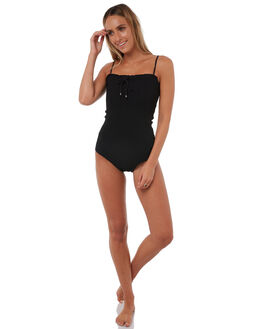 BLACK WOMENS SWIMWEAR RUE STIIC ONE PIECES - RS118-14BLK