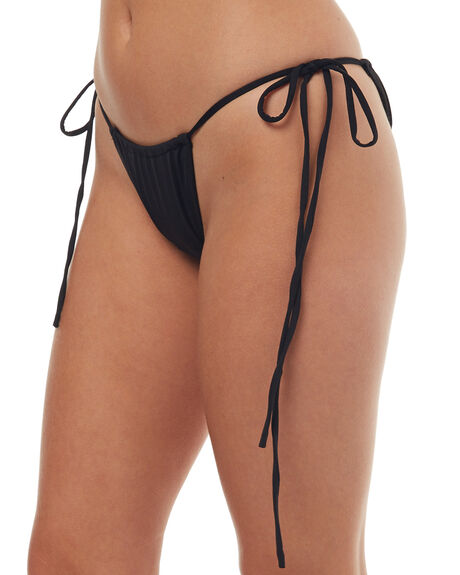 BLACK WOMENS SWIMWEAR TEE INK BIKINI BOTTOMS - SW0006BBLK