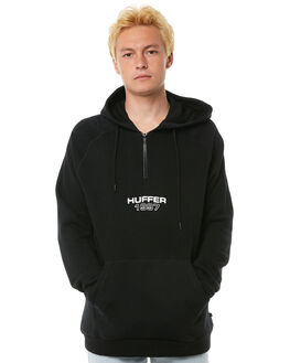 BLACK MENS CLOTHING HUFFER JUMPERS - MHD81S282-586BLK
