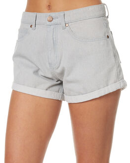 LIGHT BLUE WOMENS CLOTHING AFENDS SHORTS - 52-01-077LTBL