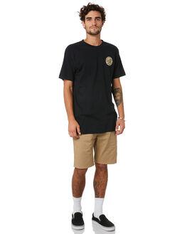 BLACK MENS CLOTHING SANTA CRUZ TEES - SC-MTA0542BLK