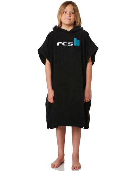 BLACK KIDS BOYS FCS TOWELS - 11028BLK