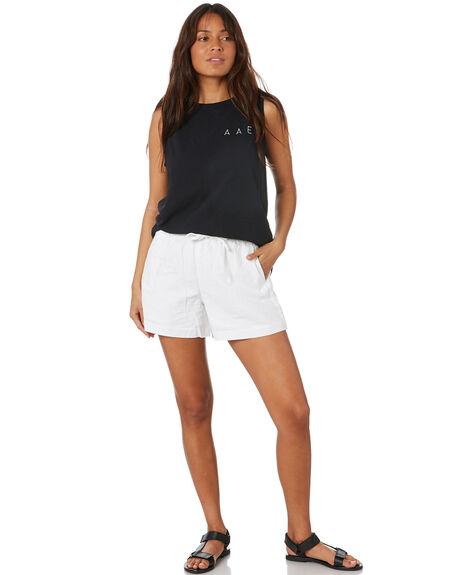 BLACK WOMENS CLOTHING ALL ABOUT EVE SINGLETS - 6466015BLK