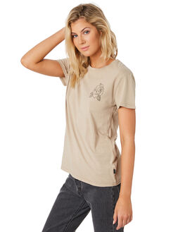 TAN WOMENS CLOTHING SILENT THEORY TEES - 6033038TAN