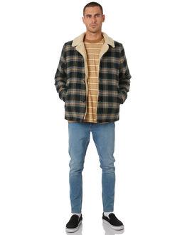 BLACK CHECK MENS CLOTHING WRANGLER JACKETS - W-901804-792