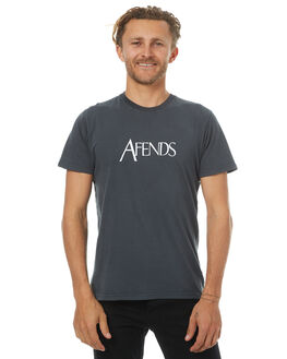 FADED BLACK MENS CLOTHING AFENDS TEES - 01-01-313FBLK