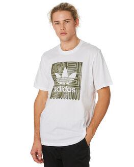 WHITE RAW KHAKI MENS CLOTHING ADIDAS TEES - DU8353WHTKH