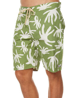 GREEN MENS CLOTHING MOLLUSK BOARDSHORTS - MS1380GPR