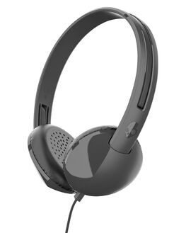 BLACK CHARCOAL MENS ACCESSORIES SKULLCANDY AUDIO + CAMERAS - S2LHY-K576BLK