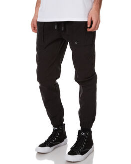 BLACK MENS CLOTHING ZANEROBE PANTS - 705-WANBLK