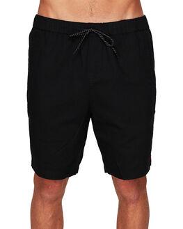 WASHED BLACK MENS CLOTHING ELEMENT SHORTS - EL-173365-IFL
