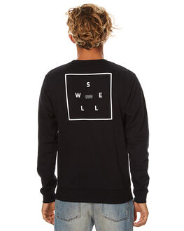 BLACK MENS CLOTHING SWELL JUMPERS - S5173441BLK