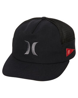 BLACK ANTHRACITE MENS ACCESSORIES HURLEY HEADWEAR - 892028010