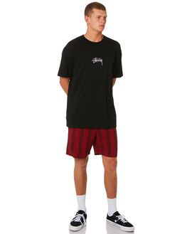 RED MENS CLOTHING STUSSY BOARDSHORTS - ST091600RED