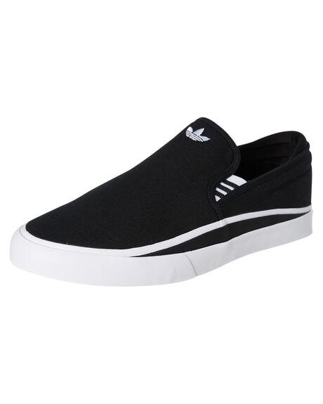CORE BLACK MENS FOOTWEAR ADIDAS SLIP ONS - EE6130CBLK