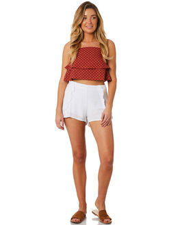WHITE WOMENS CLOTHING ALL ABOUT EVE SHORTS - 6423055WHT