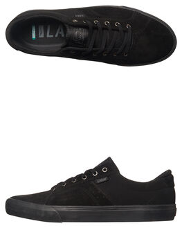 BLACK BLACK MENS FOOTWEAR LAKAI SKATE SHOES - MS4160110ABLK