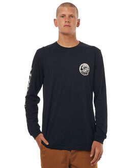 BLACK MENS CLOTHING QUIKSILVER TEES - EQYZT04517KVJ0