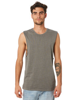 GREEN MENS CLOTHING SILENT THEORY SINGLETS - 40X0025GRN