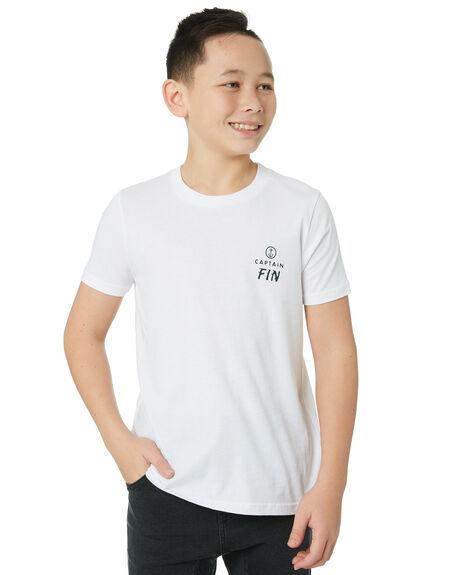 WHITE KIDS BOYS CAPTAIN FIN CO. TOPS - BT192007WHT