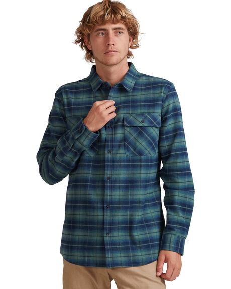 LADDERS BLUE SPRUCE MENS CLOTHING QUIKSILVER SHIRTS - UQYWT03042-BPL1