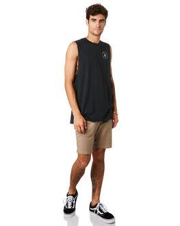 BLACK MENS CLOTHING VOLCOM SINGLETS - A4501916BLK