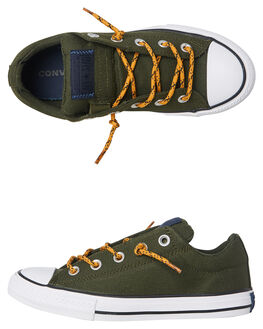 GREEN TURMERIC KIDS BOYS CONVERSE SNEAKERS - 662341UGRN