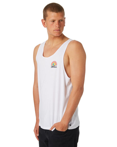 WHITE OUTLET MENS SWELL SINGLETS - S5184277WHITE