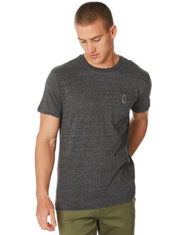 BLACK MENS CLOTHING RVCA TEES - R393048BLK