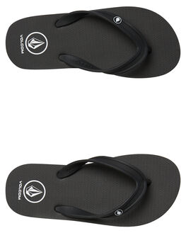 BLACK MENS FOOTWEAR VOLCOM THONGS - V0811885BLK