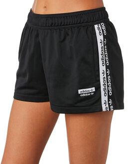 BLACK WOMENS CLOTHING ADIDAS SHORTS - EC0768BLK