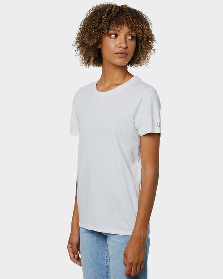 WHITE WOMENS CLOTHING VOLCOM TEES - B3512177WHT