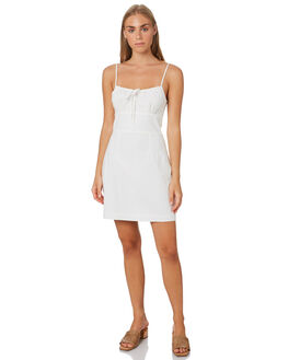 WHITE WOMENS CLOTHING LULU AND ROSE DRESSES - LU23892WHT