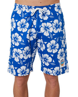 BLUE MENS CLOTHING OKANUI BOARDSHORTS - OKBOHBBUBLU