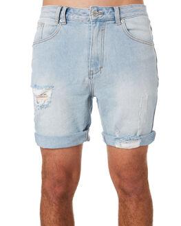 BLUE TRASHED MENS CLOTHING INSIGHT SHORTS - 1000082027BLTR