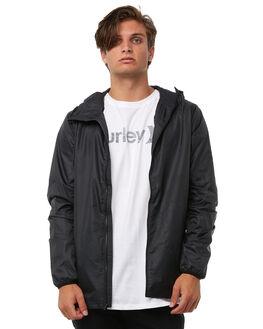 BLACK MENS CLOTHING HURLEY JACKETS - 894992010