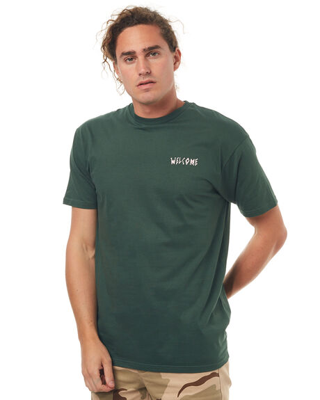 FOREST GREEN MENS CLOTHING WELCOME TEES - SYMBOLTFRST