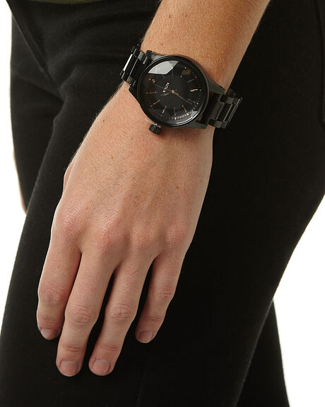 ALL BLACK ROSE GOLD MENS ACCESSORIES NIXON WATCHES - A409957957