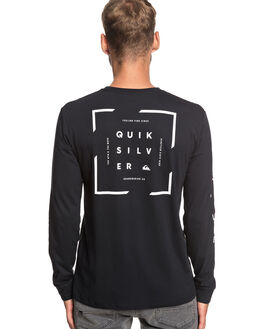 BLACK MENS CLOTHING QUIKSILVER TEES - EQYZT05241-KVJ0
