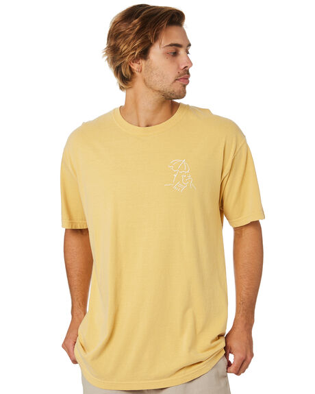 VINTAGE YELLOW MENS CLOTHING BUSINESS AND PLEASURE CO TEES - BPS-BSQ-VTG-YEL