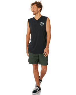 BLACK MENS CLOTHING SANTA CRUZ SINGLETS - SC-MLC8957BLACK