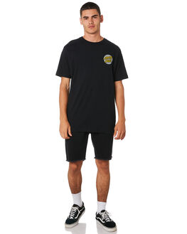 BLACK MENS CLOTHING SANTA CRUZ TEES - SC-MTA9148BLK