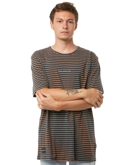 ARMY STRIPE MENS CLOTHING RPM TEES - 8AMT01AASTRP