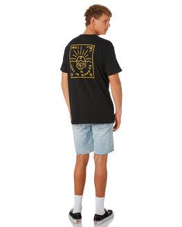 BLACK MENS CLOTHING SWELL TEES - S5201017BLACK