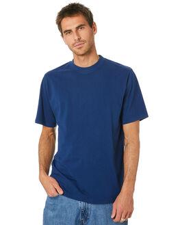 WASHED INDIGO MENS CLOTHING MR SIMPLE TEES - M-01-32-33WSHIN