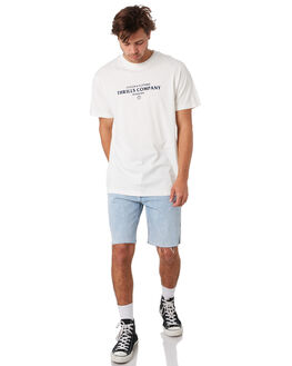 DIRTY WHITE MENS CLOTHING THRILLS TEES - TS9-119ADTWHT