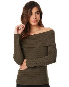 KHK BLK STRP WOMENS CLOTHING BETTY BASICS TEES - BB241W17KHKS