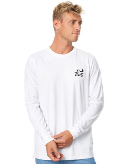WHITE BLACK MENS CLOTHING FEAT TEES - FTTLSLOG02WHIBK