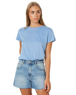 LIGHT BLUE WOMENS CLOTHING SILENT THEORY TEES - 6085027LBLU